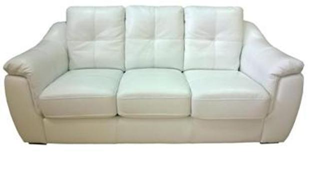 Шкіряний диван Бостон Білого кольору