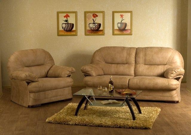 Прямий диван вермонт і крісло