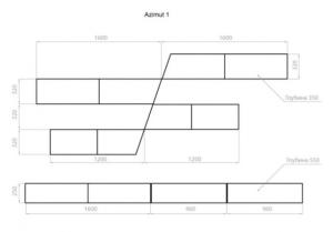 Схема вітальні Azimut-1 Аквародос
