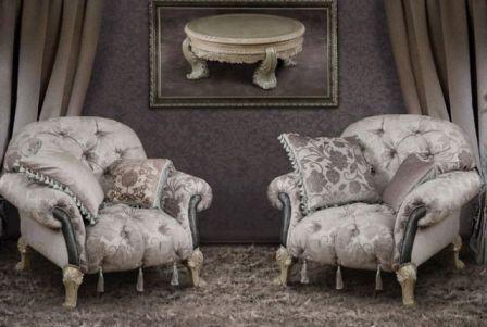 Купити  комплект класичних м'яких меблів у вітальню White Magic від In Style International (USA) у Житомирі,Чернівцях. Фото