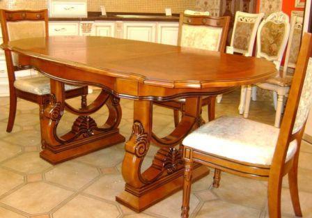 Купити обідній стіл із натурального дерева Гевея