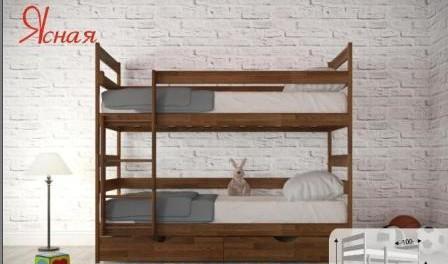 Двохярусне ліжко трансформер Ясна від Аурель для дитячої кімнати