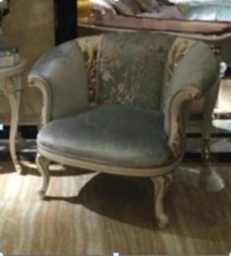 Крісло в м'якій тканинній оббивці шампань купити у Львові, Рівному