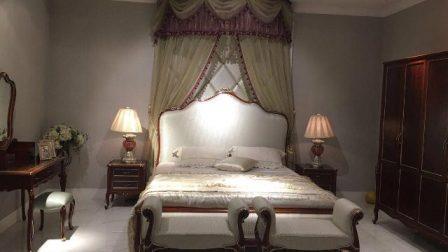 Горіхова класична спальня Версалес з масиву дерева